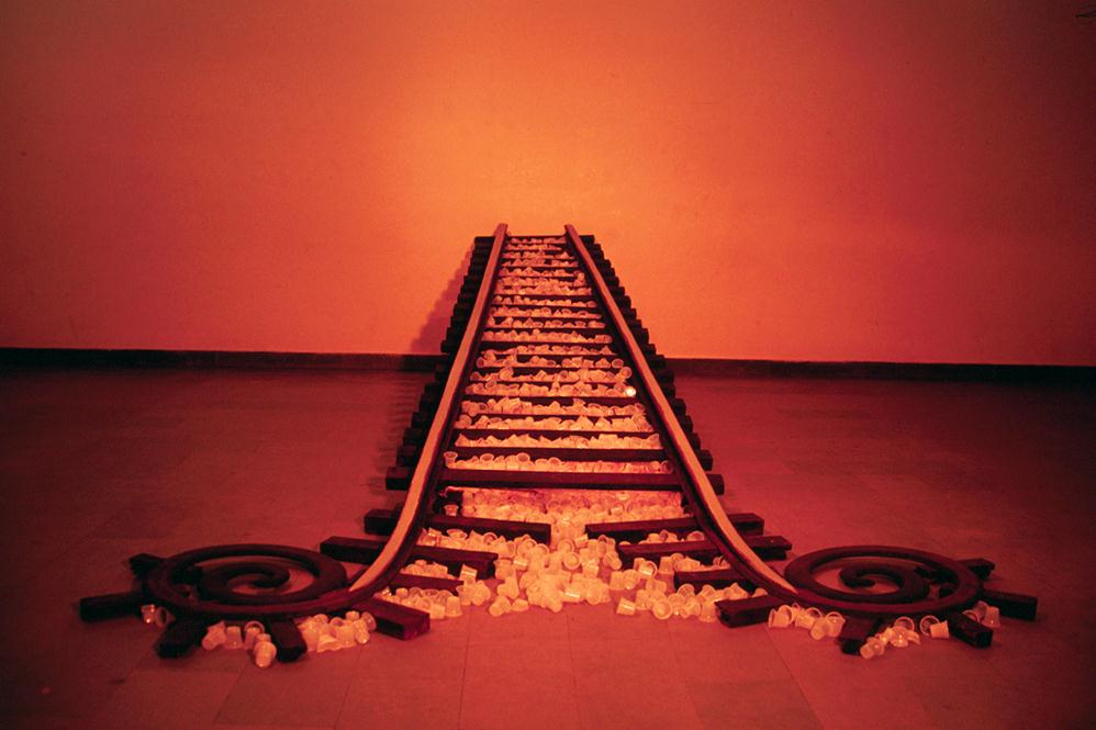 Suresh Kumar, Lifeline, 2003. Wood and Plastic. Courtesy of the artist.